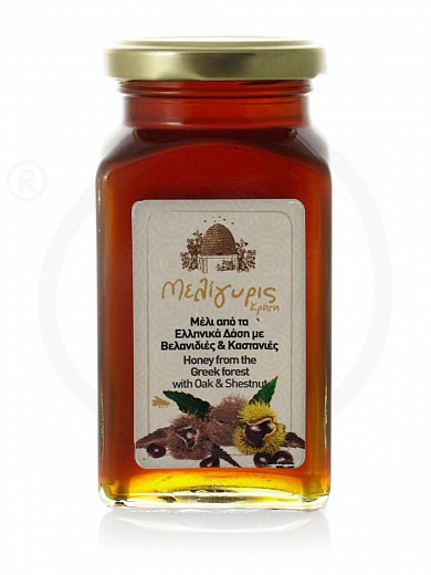 "Oak & chestnut forests honey, from Crete ""Meligyris"" 15.9oz"