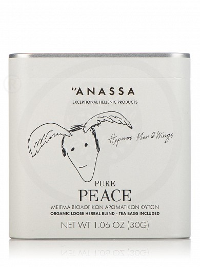 "«Pure Peace» organic herbal blend from Attica ""Anassa"" 1.1oz"