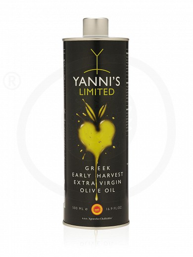 "«Limited» extra virgin olive oil from Chalkidiki ""Yannis"" tin 16.9fl.oz"