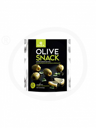 "Pitted green olives with lemon & oregano, from Chalkidiki ""Gaea"" 2.3oz"