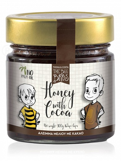 "Gluten & sugar-free honey spread with cacao, from Evia «The Bee Bros» ""Stayia Farm"" 10.6oz"