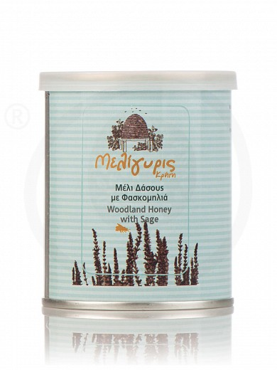 "Woodland & sage honey from Crete ""Meligyris"" tin 8.8oz"