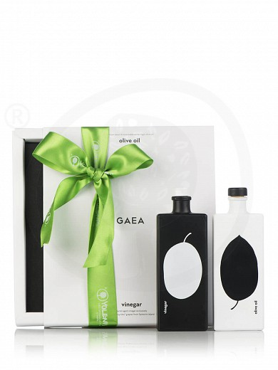 "Extra virgin olive oil & aged vinegar gift set ""Gaea"" 2.7fl.oz"
