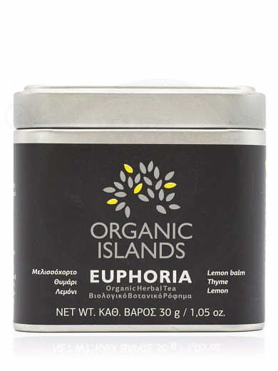 "Organic herbal tea with lemon balm, thyme & lemon «Euphoria» from Naxos ""Organic Islands"" 1.05oz"