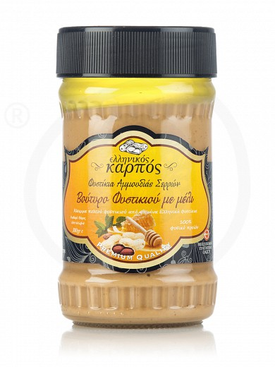 "Peanut butter with Greek honey, from Serres ""Ellinikos Karpos"" 10.6oz"
