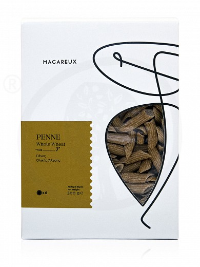 "«Penne» traditional whole wheat pasta from Evia ""Macareux"" 17.6oz"