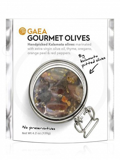 "«Gourmet» pitted Kalamata olives from Agrinio ""Gaea"" 4.2oz"