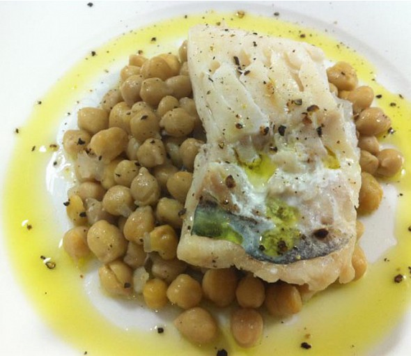 Cod with chickpeas