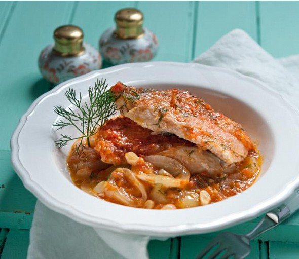 Fish recipe from the Ionian islands (mpourdeto)