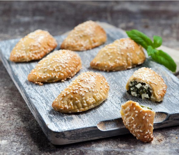 Spinach pies from Chania