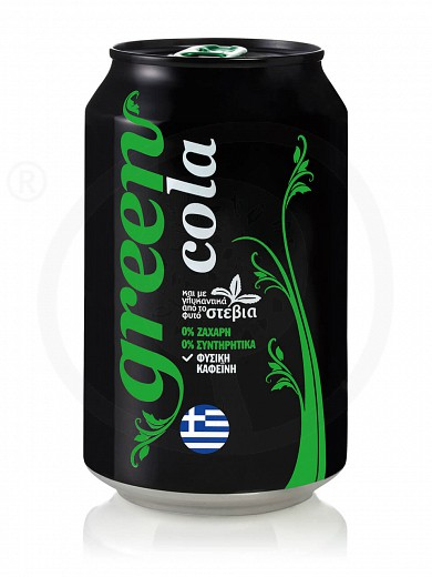 "Cola with stevia from Attica ""Green Cola"" 330ml"