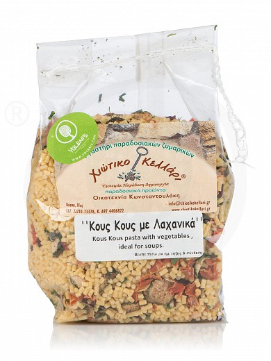 """«Couscous» traditional pasta with vegetables, from Chios """"Chiotiko Kelari"""" 500g"""