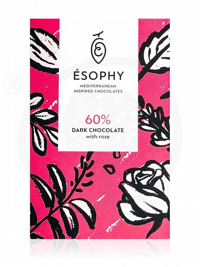 "Dark chocolate with rose ""Ésophy"" 50g"
