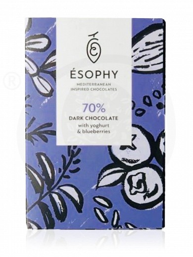 "Dark chocolate with yoghurt & blueberries ""Ésophy"" 50g"