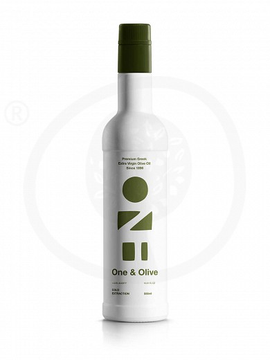"Extra virgin olive oil «One & Olive», from Messinia ""Anagnostopoulos"" 500ml"