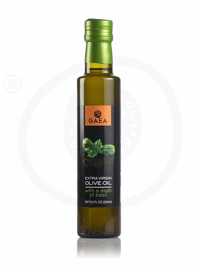 "Extra virgin olive oil with basil aroma ""Gaea"" 250ml"