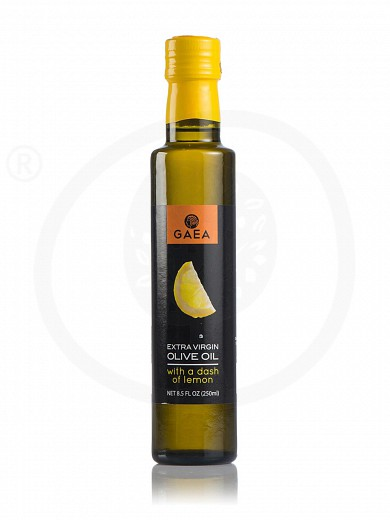 "Extra virgin olive oil with lemon aroma ""Gaea"" 250ml"