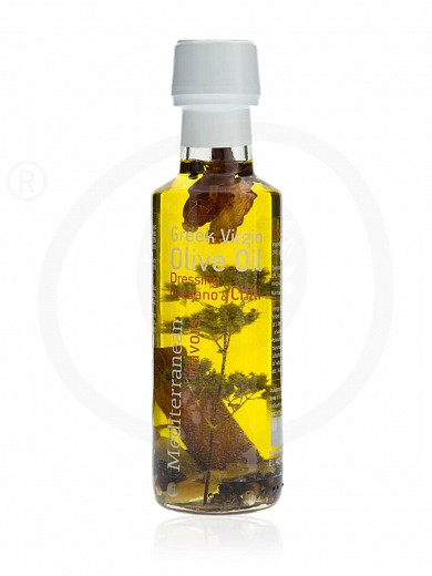 """Extra virgin olive oil with oregano & chili «Mediterranean Flavors» from Thessaloniki """"Nature Blessed"""" 100ml"""