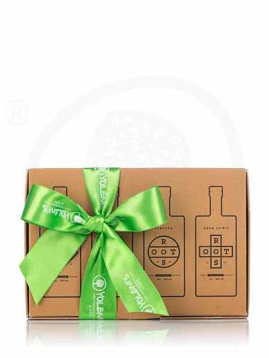 "Gift box with 4 traditional liqueurs ""Roots"" 200ml"
