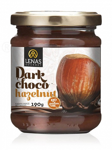 "Gluten free dark chocolate & hazelnut spread from Korinthia ""Lenas Gourmet"" 190g"
