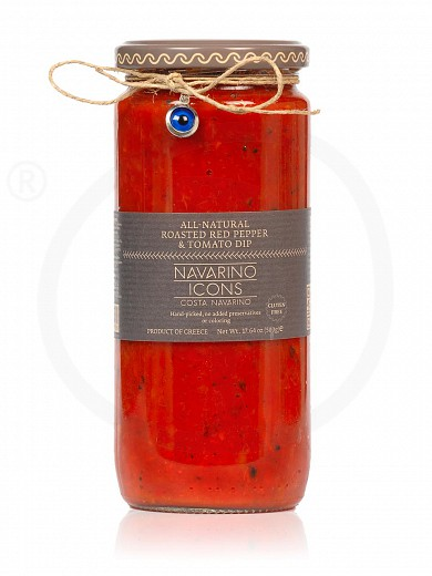 "Gluten - free roasted red pepper & tomato spread, from Messinia ""Navarino Icons"" 500g"