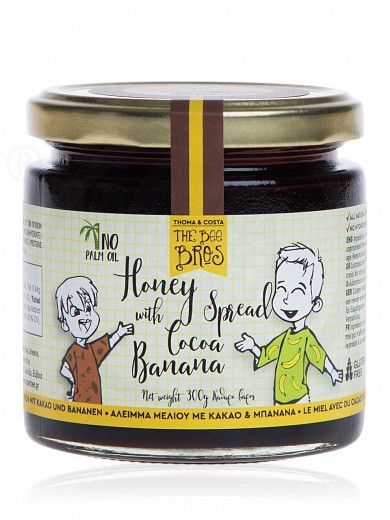 "Gluten & sugar-free honey spread with cacao & banana, from Evia «The Bee Bros» ""Stayia Farm"" 300g"