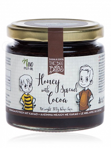 "Gluten & sugar-free honey spread with cacao, from Evia «The Bee Bros» ""Stayia Farm"" 300g"