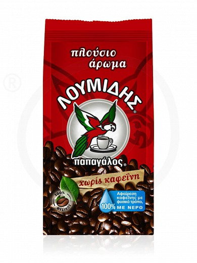 "Greek coffee «Decaffeinated» ""Loumidis Papagalos 96g"