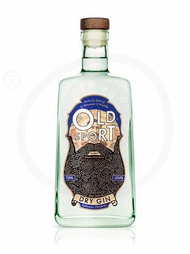 "Greek gin «Old Sport Premium Gin» from Kalamata ""Callicounis Distilleries"" 700ml"