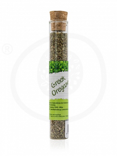 "Greek Oregano in test tube from Attica ""Kollectiva"" 7g"
