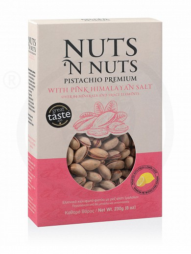 "Greek pistachio with pink Himalayan salt from Attica ""Nuts 'n Nuts"" 230g"