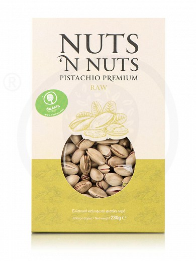 "Greek raw unsalted pistachios from Attica ""Nuts 'n Nuts"" 230g"