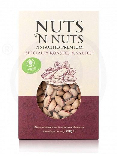 """Greek roasted & salted pistachios from Attica """"Nuts 'n Nuts"""" 230g"""