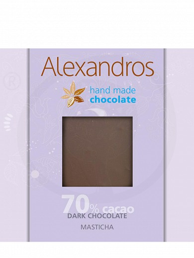 "Handmade dark chocolate with Chios mastiha from Attica ""Alexandros"" 90g"