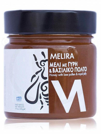 """Honey product with bee pollen & royal jelly, from Evia """"Melira"""" 280g"""