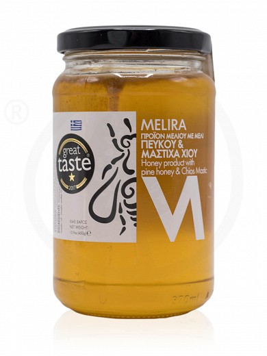 "Honey with pine & Chios mastic from Evia ""Melira"" 450g"