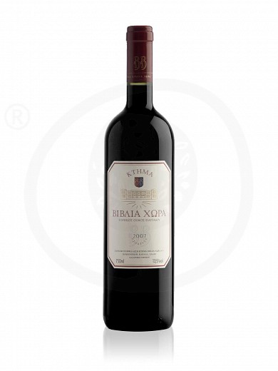"""Ktima Biblia Chora"" Regional red wine of Pangeon 750ml"