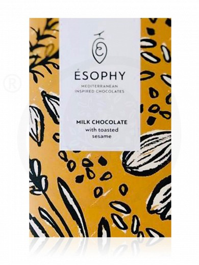 """Milk chocolate with toasted sesame """"Ésophy"""" 50g"""