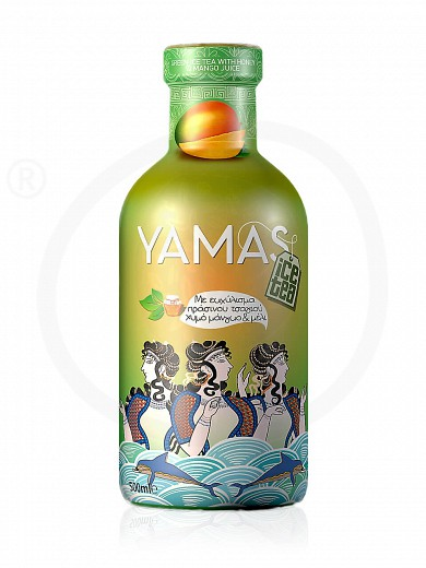 "No added sugar green ice tea with honey & mango juice from Attica ""Yamas"" 355ml"
