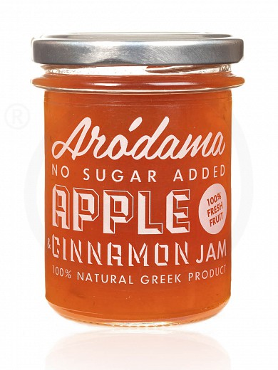 "No added sugar premium apple & cinnamon jam from Crete ""Arodama"" 220g"