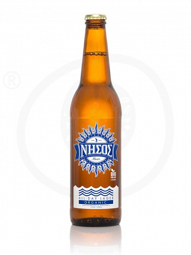 "Organic allday Lager beer from Tinos ""Nissos"" 500ml"