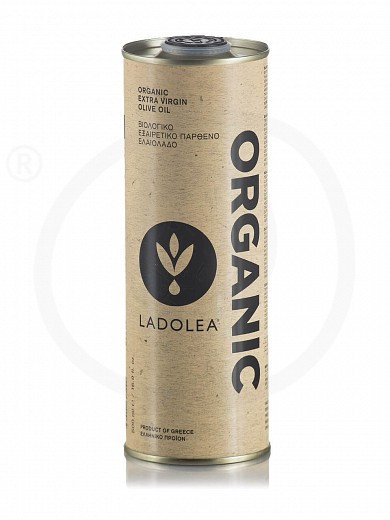 "Organic corinthian extra virgin olive oil ""Ladolea"" Tin 500ml"