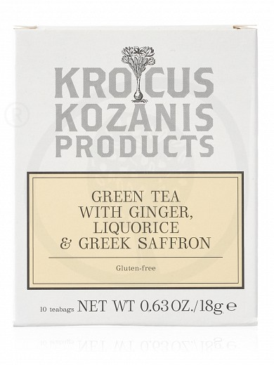 "Green tea with ginger, liquorice & Greek saffron from Kozani ""Krocus Kozanis Products"" 18g"