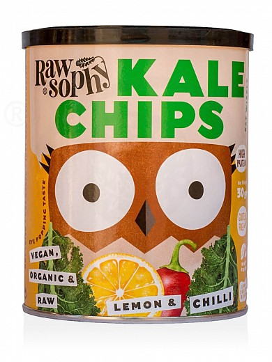 "Organic kale chips «Lemon & Chilli» from Attica ""Rawsophy"" 30g"