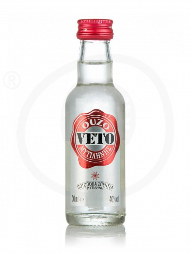 "Ouzo (greek distillate) from Mytilini ""Veto"" 50ml"
