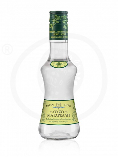 "Ouzo (greek distillate) with aniseed and honey from Lesvos ""Ouzo Matarelli"" 200ml"