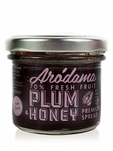 "Plum spread with thyme honey & extra virgin olive oil, from Crete ""Arodama"" 120g"