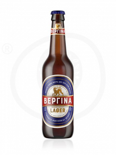 "Premium lager beer from Komotini ""Vergina"" 300ml"