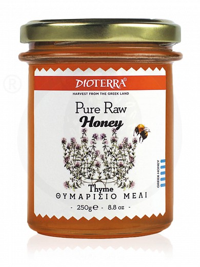 "Pure raw honey «Thyme», from Achaia ""Dioterra"" 250g"