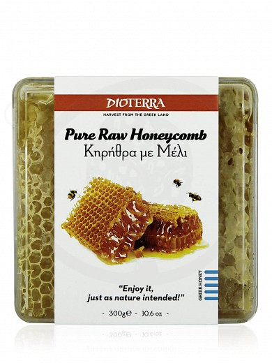 """Pure raw honeycomb from Achaia """"Dioterra"""" 300g"""